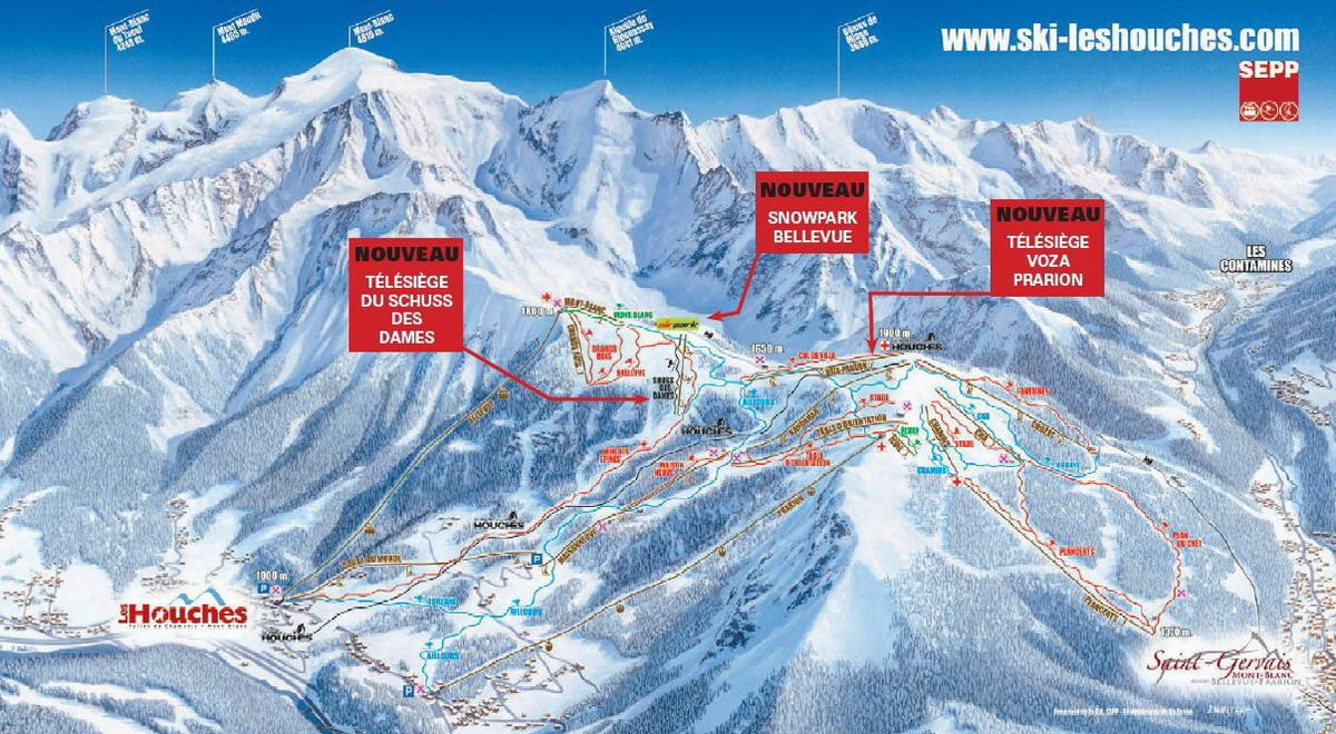 Les Houches Station De Ski Vallee De Chamonix Mont Blanc Alpes
